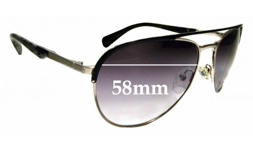 Sunglass Fix Replacement Lenses for Prada SPR51Q - 58mm wide
