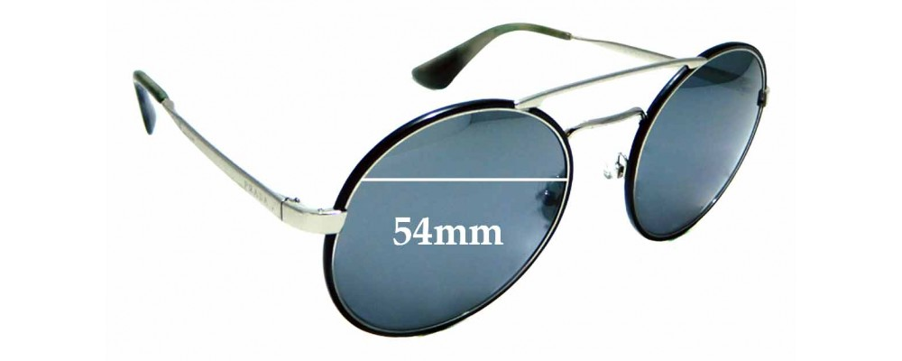 Sunglass Fix Replacement Lenses for Prada SPR51S - 54mm wide