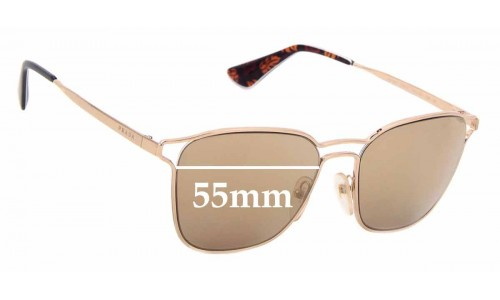 Sunglass Fix Replacement Lenses for Prada SPR54T - 55mm wide