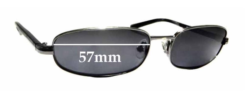 Sunglass Fix Replacement Lenses for Prada SPR 56E - 57mm wide