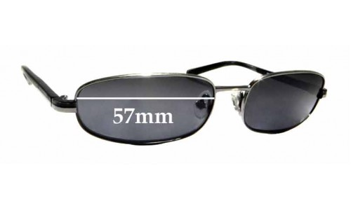 Sunglass Fix Replacement Lenses for Prada SPR 56E - 57mm wide