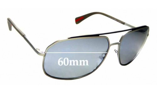 Sunglass Fix Replacement Lenses for Prada SPR 56R - 60mm wide