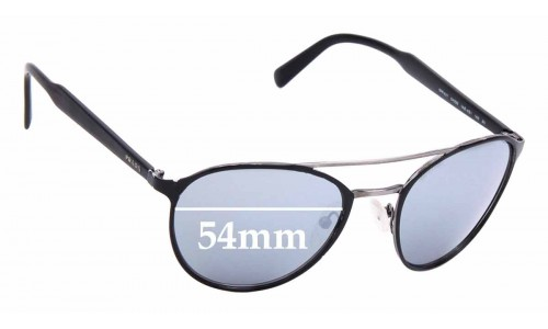 Sunglass Fix Replacement Lenses for Prada SPR 62T - 54mm Wide