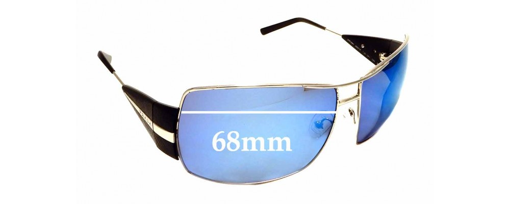 Sunglass Fix Replacement Lenses for Prada SPR 68H - 68mm wide