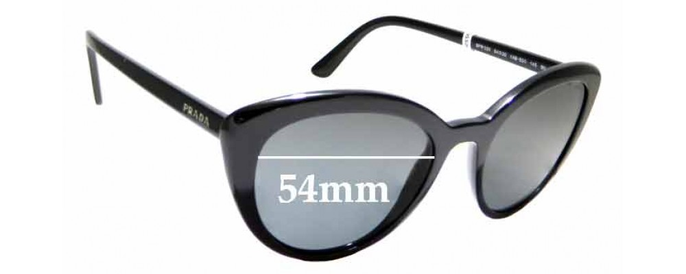 Sunglass Fix Replacement Lenses for Prada SPR02V - 54mm wide