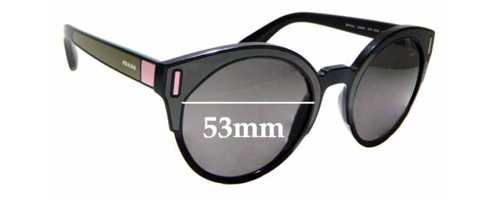 Sunglass Fix Replacement Lenses for Prada SPR03U - 53mm wide