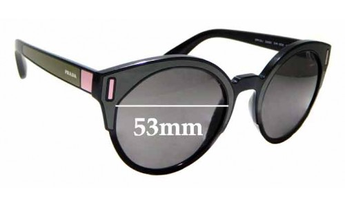 Sunglass Fix Replacement Lenses for Prada SPR03U - 53mm wide