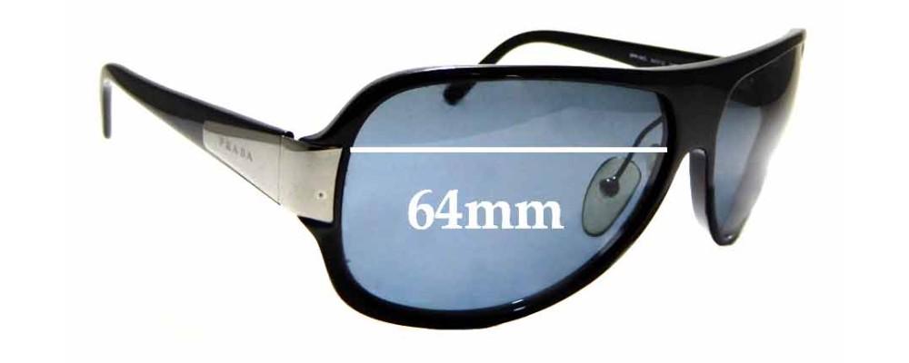 Sunglass Fix Replacement Lenses for Prada SPR06G - 64mm Wide