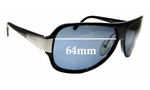 Sunglass Fix Replacement Lenses for Prada SPR06G - 64mm Wide