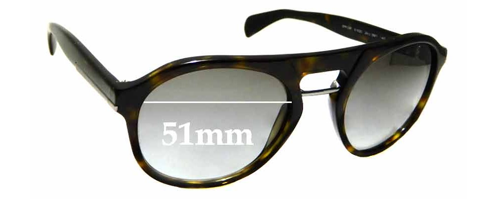 Sunglass Fix Replacement Lenses for Prada SPR09P - 51mm wide