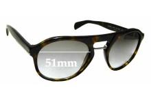 Sunglass Fix Replacement Lenses for Prada SPR09P - 51mm wide