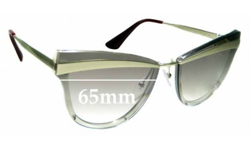 Sunglass Fix Replacement Lenses for Prada SPR12U - 65mm wide **The Sunglass Fix Cannot Provide Lenses For This Model Sorry**