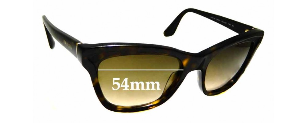 Sunglass Fix Replacement Lenses for Prada SPR16P - 54mm wide