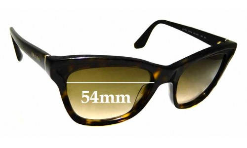 Sunglass Fix Replacement Lenses for Prada SPR16P - 54mm wide