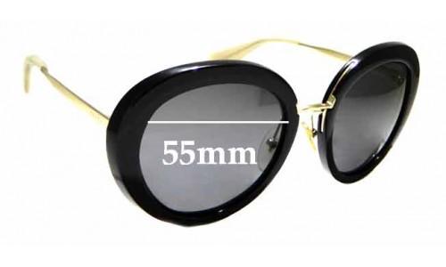Sunglass Fix Replacement Lenses for Prada SPR16Q- 55mm wide