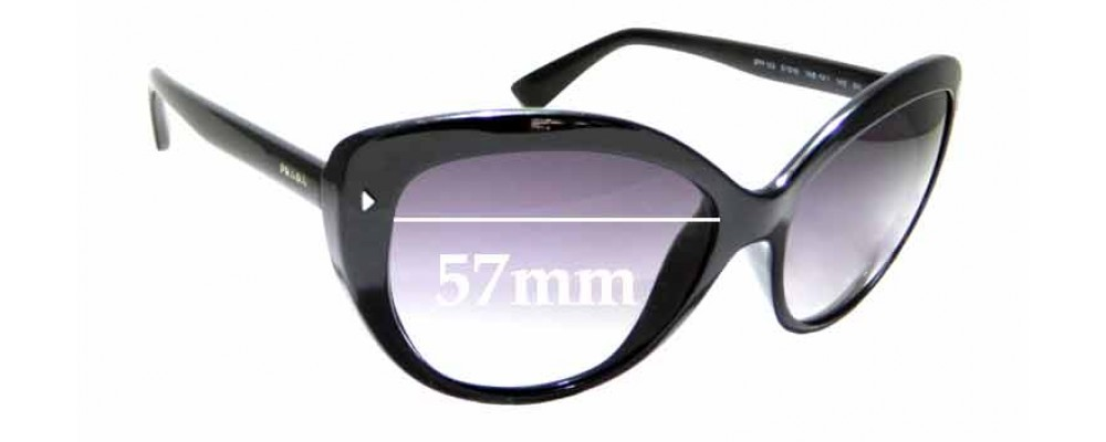 Sunglass Fix Replacement Lenses for Prada SPR 16S - 57mm Wide