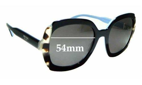 Sunglass Fix Replacement Lenses for Prada SPR16U - 54mm wide