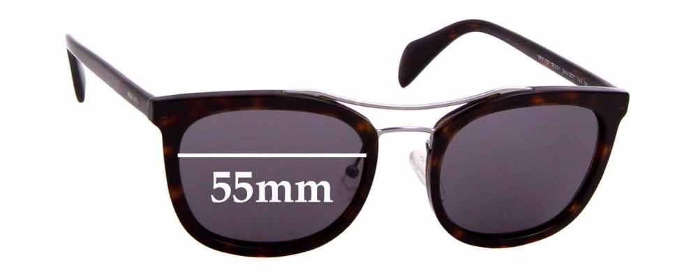 Sunglass Fix Replacement Lenses for Prada SPR17Q - 55mm wide