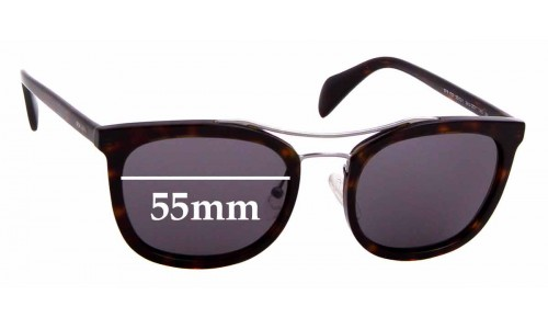 Sunglass Fix Replacement Lenses for Prada SPR17Q - 55mm wide
