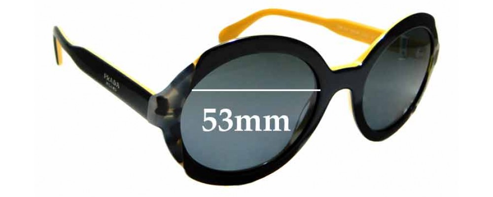 Sunglass Fix Replacement Lenses for Prada SPR17U - 53mm Wide