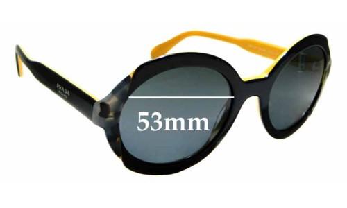 Sunglass Fix Replacement Lenses for Prada SPR17U - 53mm Wide