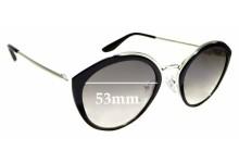 Sunglass Fix Replacement Lenses for Prada SPR18U - 53mm wide