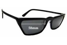 Sunglass Fix Replacement Lenses for Prada SPR19U - 58mm wide