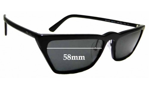 Sunglass Fix Replacement Lenses for Prada SPR19U - 58mm wide