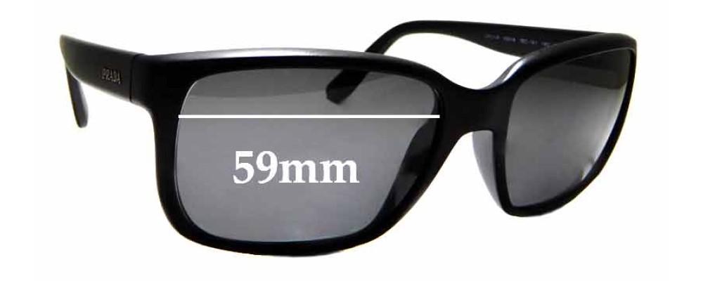 Sunglass Fix Replacement Lenses for Prada SPR21R - 59mm Wide