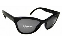 Sunglass Fix Replacement Lenses for Prada SPR21S - 56mm wide
