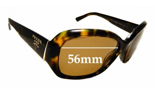 Sunglass Fix Replacement Lenses for Prada SPR31N - 56mm wide