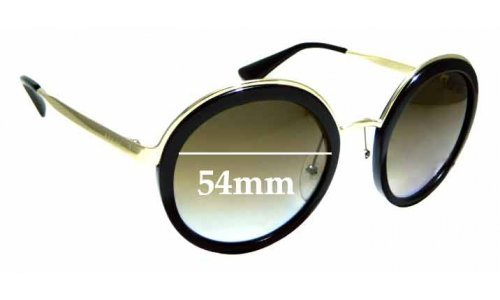 Sunglass Fix Replacement Lenses for Prada SPR50T - 54mm wide