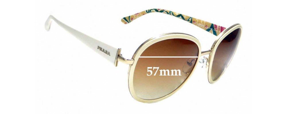 Sunglass Fix Replacement Lenses for Prada SPR 51N - 57mm wide