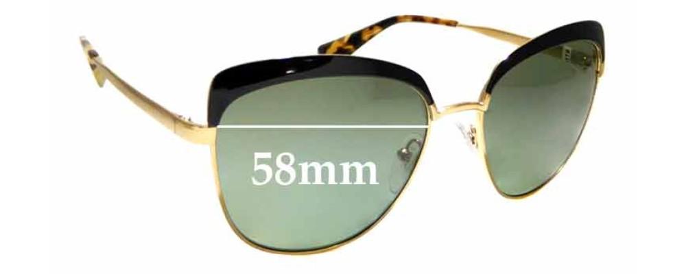 Sunglass Fix Replacement Lenses for Prada SPR51T - 56mm wide