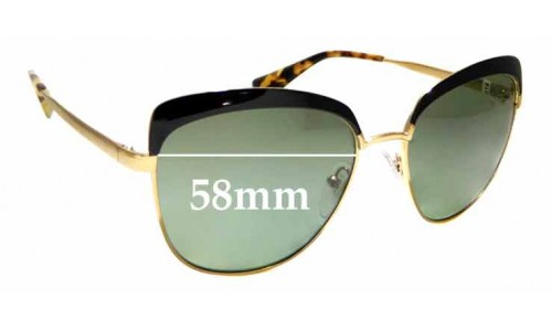 Sunglass Fix Replacement Lenses for Prada SPR51T - 56mm wide