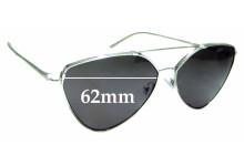 Sunglass Fix Replacement Lenses for Prada SPR51U - 62mm wide
