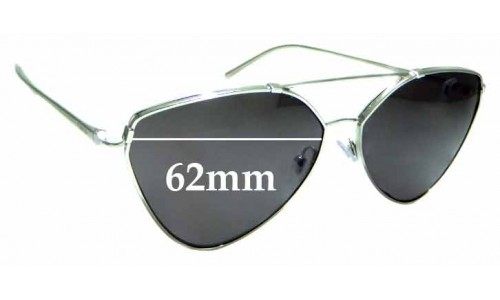 Sunglass Fix Replacement Lenses for Prada SPR51U - 62mm wide