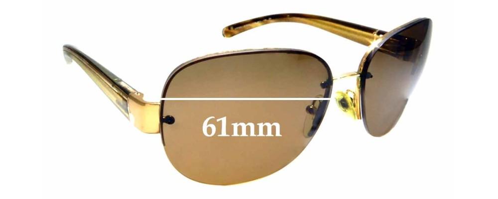 Sunglass Fix Replacement Lenses for Prada SPR60L - 61mm wide