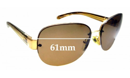 Sunglass Fix Replacement Lenses for Prada SPR60L - 61mm wide