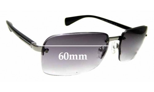 Sunglass Fix Replacement Lenses for Prada SPR61N - 60mm wide