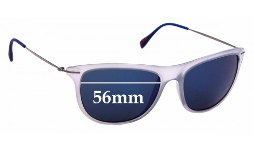 Sunglass Fix Replacement Lenses for Prada SPS 01P - 56mm Wide