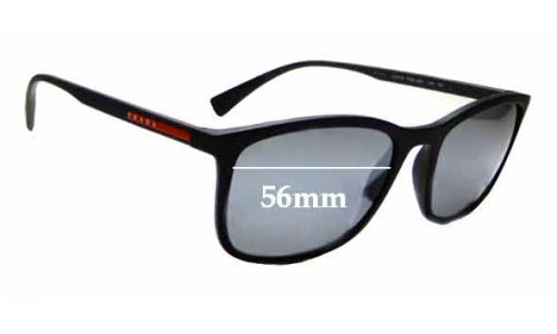 Sunglass Fix Replacement Lenses for Prada SPS 01T - 56mm wide