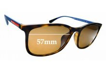 Sunglass Fix Replacement Lenses for Prada SPS 01T-F - 57mm wide