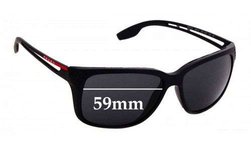 Sunglass Fix Replacement Lenses for Prada SPS 03T - 59mm wide