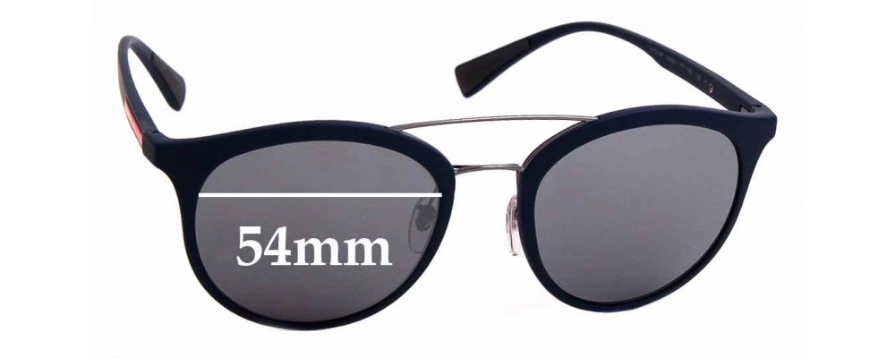 Sunglass Fix Replacement Lenses for Prada SPS 04R - 54mm Wide