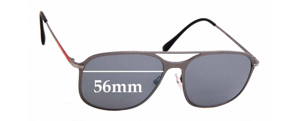 Sunglass Fix Replacement Lenses for Prada SPS 53T - 56mm wide