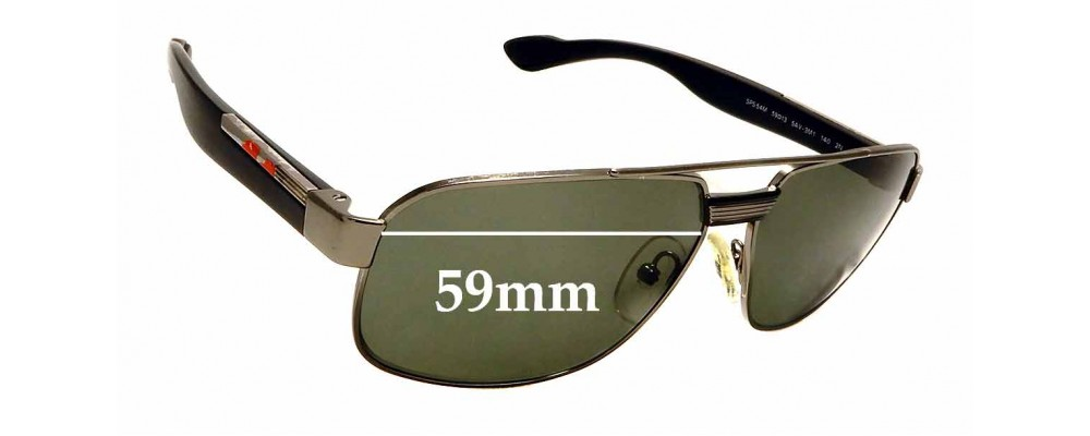Sunglass Fix Replacement Lenses for Prada SPS 54M - 59mm wide