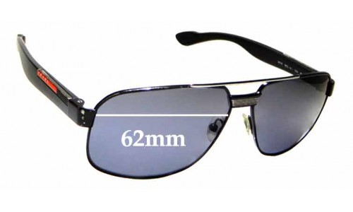 Sunglass Fix Replacement Lenses for Prada SPS 54M - 62mm wide