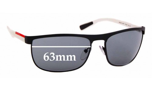 Sunglass Fix Replacement Lenses for Prada SPS 54Q - 63mm Wide