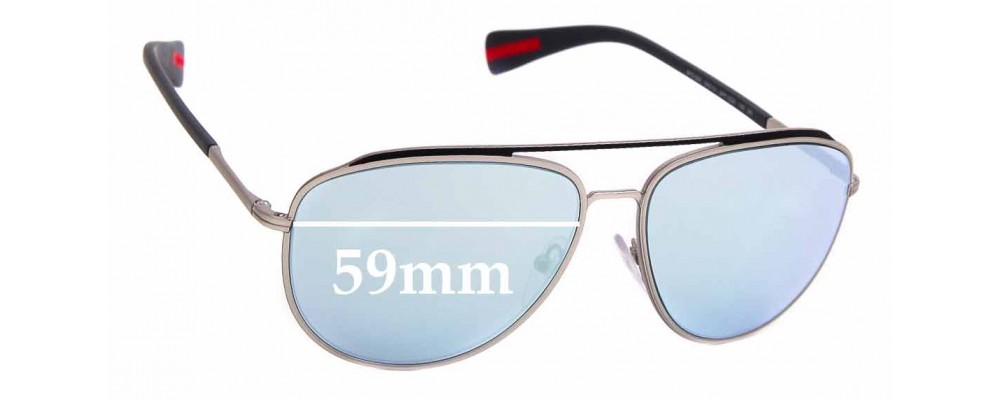 Sunglass Fix Replacement Lenses for Prada SPS 55R - 59mm Wide